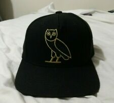 77d829c2cbc5 DS - OVO October s Very Own Black Gold Large Owl Snapback Drake