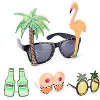 Funny Hawaiian Tropical Sunglasses Beach Sun Glasses Fancy Dress Party Costume