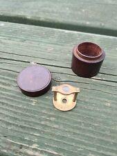 Vintage small Brass Field Microscope in original Hard wood Case