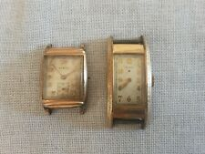 Vintage Watch Lot Art Deco ELGIN Elbon Parts Or Repair #J11