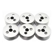 6 Pk. Aluminum Bobbin #MN74A0123 - Mitsubishi LU2-4410 LU-4430 Sewing Machine