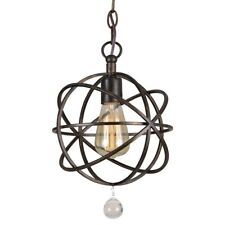 Crystorama Solaris 1 Light Bronze Pendant - 9220-EB