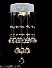 Contemporary Flush Mount Modern Crystal Rain Drop Chandelier Lighting Luxurious