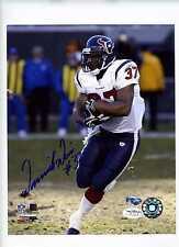 Dominick Davis Autograph 8x10   JSA  Texans  Signed  Auto