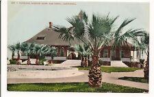 "Vintage postcard ""Pavilion, Mission Cliff, San Diego, California"" Palm trees"