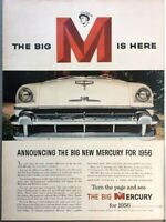 1956 Mercury Automobile Vintage Advertisement Print Art Car Ad Poster LG72