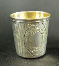 Christofle Vintage Silverplate Thimble-form Shot Glass or Cup Anne Anka Estate