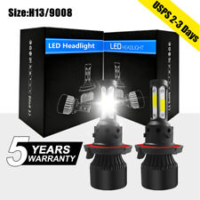 4-Side 9008 H13 LED Hi-Low Beam Headlight 2800W 375000LM bulbs Kit White 6000K