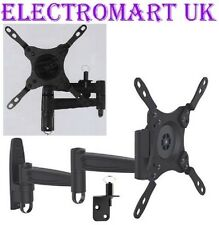 TV DOUBLE ARM LOCKABLE WALL BRACKET CARAVAN MOTORHOME BOAT VESA 75 100 200