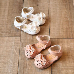 Summer Baby Infant Kids Girls Bow Princess Sandals Shoe Girls Casual Dress Shoes