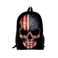 Cool Skull Print Men Boy Backpack School Laptop Travel Bookbag Shoulder Rucksack