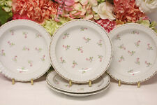 "Bernardaud, ""Small Bouquets"" Pink/Blue Flowers Rimmed Soup Bowls (6)"