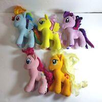 "My Little Pony FiM 7"" Twilight Pinkie Rainbow Applejack Plush Dolls Lot of 5"