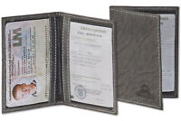 Woodland® Leder Ausweishülle / Ausweisetui / Ausweismappe in Anthrazit
