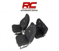 1987-1990 Jeep YJ Wrangler Rough Country Neoprene Seat Covers - BLACK [91008]