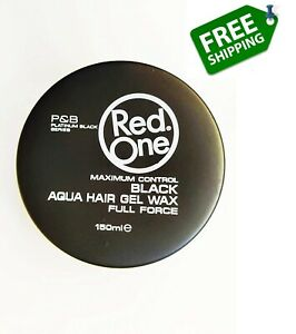 Red One Maximum Control Black Aqua Hair Gel Wax Full Force - 24 Hour No flaking