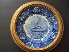 Faneuil Hall Boston Cradle of Liberty Souvenir Plate Wedgwood Transfer ware 1960