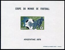 MONACO WORLD CUP 1978  IMPERFORATE  SOUVENIR SHEET SCOTT#1109  MINT NH