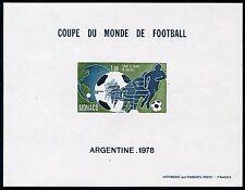 MONACO WORLD CUP 1978  IMPERFORATE  SOUVENIR SHEET SCOTT#1109  MINT NH