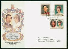 Mayfairstamps Aitutaki FDC 1981 Wedding Prince of Wales Combo First Day Cover ww