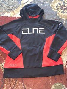 Nike Elite Hoodie Black Red YMD