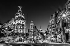 Hermosa ciudad de Madrid Lienzo cuadro #539 impresionantes España Cityscape A1 Lona