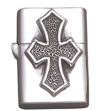 Sterling Silver Florentine Cross Zippo Lighter Case- LTR6
