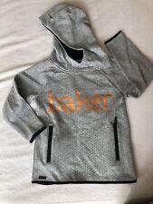 Ex Ted Baker Herringbone Jacket Hoodie In Navy Age 1-5 Years TS4
