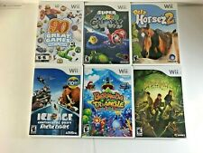 GROUP OF 6 Wii NINTENDO -- SUPER MARIO GALAXY PLUS OTHERS -- 2007 TO 2012