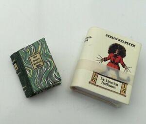 DOLLSHOUSE MINIATURE READABLE BOOKS - DER STRUWWELPETER & DAS PUPPEN KOCHBUCH