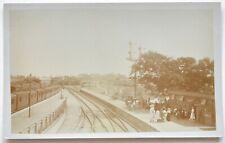 Real Photo Postcard Highbridge Station Somerset & Dorset Railway