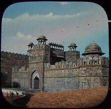 Glass Magic Lantern Slide DELHI GATE OF THE FORT C1880 PHOTO INDIA