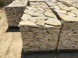 Terrassenplatten Polygonalplatten Naturstein Kalkstein - Italia Gelb 3-4cm 10 m²