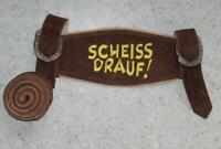 NEUE! Leder- HOSENTRÄGER zur Trachten- LEDERHOSE / Trachtenhose in braun