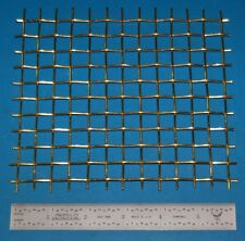 "Brass 2-Mesh (11000 micron), .063"" (1.6mm) Wire, .437"" Wd, 6x6"""