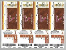 2011 NLCS BASEBALL FULL UNUSED TICKETS SHEET BREWERS @ CARDINALS GAME #1,2,6,7