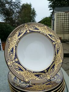 """Royal Worcester HAREWOOD 9.25"""" large rimmed soup bowl (s): 1sts and unused"""