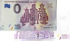 Deutsches Technikmuseum Berlin 2019-2 Null Euro Souvenirschein | 0 € Euro Schein