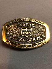 Vintage Park Service Forestry Brass Canada Alberta Belt Buckle