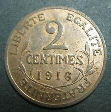 2 centimes 1916 - DANIEL-DUPUIS - III° REPUBLIQUE - SPLENDIDE