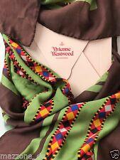 ☆ VIVIENNE WESTWOOD Schal, Tuch, Stola, scarf 115x115 grün Geschenkbox OVP 229€