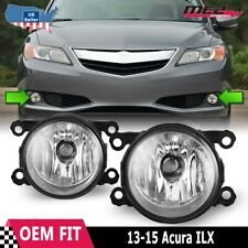 Fits 13-15 Acura ILX PAIR Factory Bumper Replacement Fog Lights Clear Lens DOT