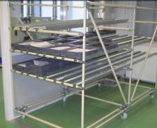 Lot rails pour convoyeur à galets gravitaire de 40 avec accessoires CARENAL