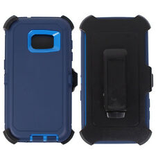 Samsung Galaxy S7 Premium Armor Defender Case Screen Clip Fit Otterbox Navy