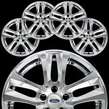 """4 for Ford Explorer XLT 2018-19 Chrome 18"""" Wheel Skins Full Rim Covers Hub Caps"""