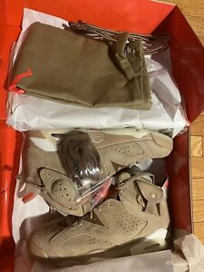 Jordan 6 Retro x Travis Scott British Khaki - Size 10.5 DS Fast Shipping