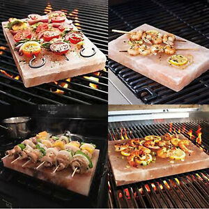 New Plank Salt Blocks Himalayan Pink Salt Tray For Serving Cooking Grilling BBQ
