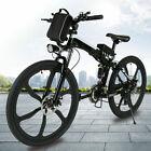Ebike 26'' Folding Electric Bike Mountain Bicycle City Commute Stronger@Battery