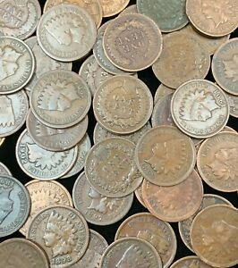 Indian Head Penny Roll 1859-1909 50 Fifty Indian Head Cents AVE CIR. Please READ