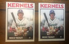 Mike Trout RC Minor League Rookie Card # 28 Cedar Rapids Kernels SP Angels ACEO